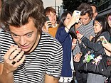 Story of his life: Harry Styles is mobbed by excited fans upon arrival in Tokyo