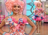Bethenny Frankel dons pink pigtails and Candy Land costume for the Halloween episode of her talk show
