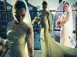 And the bride wore couture! Christina Ricci shares photos in her stunning Givenchy wedding dress days after tying the knot
