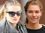Who needs Halloween make-up? Natural beauties Rosie Huntington-Whiteley and Jessica Hart go barefaced to hit the gym