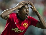 On the move? Zaha has been starved of opportunities at Manchester United