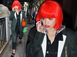 Pretty woman: Style chameleon Rita Ora rocks yet another new hairstyle in the form of a glossy red bobbed wig