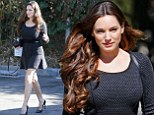 You're sure to get the role in an outfit like that! Kelly Brook wears a flirty thigh-skimming LBD for casting meeting in LA