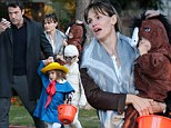 The Affleck kids show off their very different Halloween styles for trick-or-treating... but plain-clothed Ben disappoints Batman fans hoping for a sneak peek