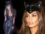 Miaow! Nicole Scherzinger stuns in eye-popping plunging catsuit as she attends Jonathan Ross's Halloween party as Catwoman