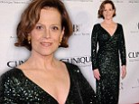 Sigourney Weaver, 64, takes the plunge in black sequin wrap gown at American Ballet Theatre opening
