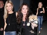 Reality stars Joanna Krupa and Lisa Vanderpump head out for dinner