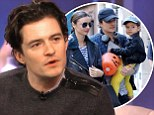 Family first: Orlando Bloom talked about his split with wife Miranda Kerr with talk show host Katie Couric in an interview airing on Friday