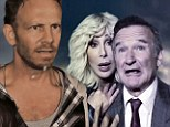 Starry Sharknado! Cher clings to Robin Williams as A Listers flock to join Ian Ziering in hilarious Halloween parody of cult movie