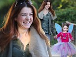 Her precious pixie! Alyson Hannigan brought her daughter Satyana to school as a fairy on Thursday in Los Angeles, California