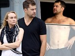 Pacey's pecs! Shirtless Joshua Jackson relaxes in Rio de Janeiro with girlfriend Diane Kruger during romantic getaway... but why is she so downcast?
