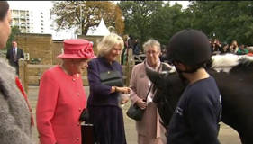 Queen and Camilla on rare outing