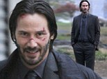 Keanu Reeves reveals cut and bruised face on Brooklyn set of new movie John Wick