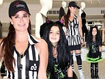 Showing her stripes! Real Housewives Kyle Richards dresses as racy referee as she and daughter Portia show off Halloween outfits