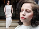 Dry your eyes: A barefoot Lady Gaga steps out with tear stained cheeks as she hits back at her X Factor critics