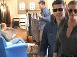 A perfect fit? LeAnn Rimes and Eddie Cibrian put on a show of domestic bliss as they go clothes shopping in Los Angeles