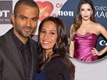 Baby joy! Eva Longoria's ex Tony Parker announces he and fiancee Axelle Francine are expecting a son