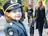 Skyler takes to the skies! Rachel Zoe's son dresses as a cute pilot for Halloween