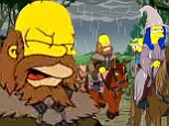 Journey to Middle-earth: The Simpsons tackles The Hobbit in new couch gag which sees Marge transform into Gandalf the Grey