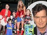 She saves the day! Wonder woman Denise Richards takes the kids trick-or-treating while things get scary between Charlie Sheen and ex-wife Brooke Mueller