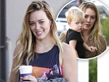 'I would like to try for a girl': Hilary Duff reveals she wants a little sister for Luca before emerging fresh-faced from a workout