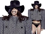 A little monstrous! Lady Gaga sports scary toothy smile, huge jacket and black underwear on bizarre 'Dope' single cover