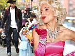 Blonde bombshell: Skinnygirl mogul Bethenny Frankel dressed up as voluptuous Hollywood siren Marilyn Monroe on Thursday for Heidi Klum's annual Halloween Party in New York City