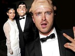 Hello, Mr President! Breaking Bad's Aaron Paul wears JFK mask to Treats Halloween bash with wife Lauren Parsekian