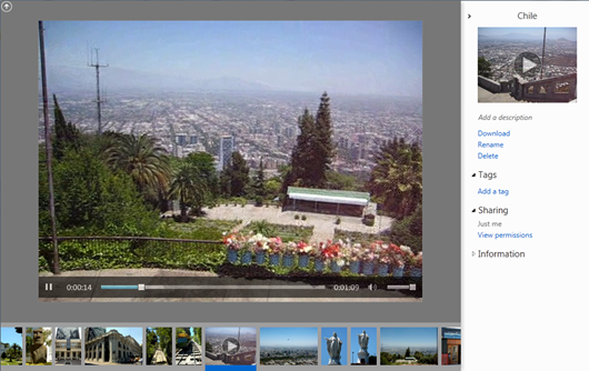 The HTML5 video tag supports playback of H.264 videos up to 100 MB