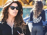 Feeling sprightly, are we? Eva Longoria shows her impeccable legs in tight pants following reports of a new businessman boyfriend