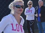 It's her Prerogative: Britney Spears sports unkempt hair, a spotty face and tracksuit as she cheers on son at early morning soccer game