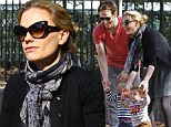 True brood! Anna Paquin and Stephen Moyer take their twins Poppy and Charlie on a family outing in the East Village