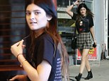 She's sweet 16 but Kylie Jenner is emerging as quite the fashionista showing off her versatile style she stepped out in a rock check ensemble on Saturday