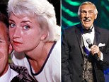 Bruce Forsyth with his first wife Penny Calvert in 1961 and right the British entertainer today aged 85