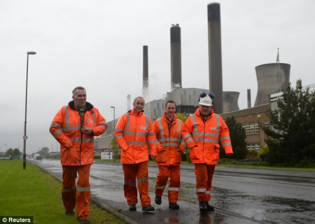Saved: 800 jobs at the Grangemouth refinery in Scotland, would have been lost if the closure had gone ahead