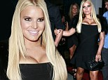 Jessica Simpson REALLY gets her body confidence back as she nearly pops out of low-cut frock on date night with Eric