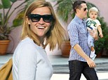 Oh boy! Reese Witherspoon spends a lazy LA day with the men in her life on break from filming Wild in Oregon