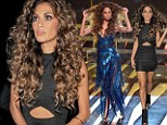Nicole Scherzinger opted for huge curly hair and black figure hugging dress for a night out in London after X Factor's Disco Night.