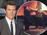 You want a piece of me!? Causing a scene: Josh Brolin reportedly got into a drunken fight outsideo f O'Briens Irish Pub in Santa Monica, California Friday night