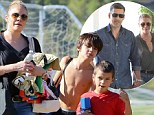 'We have such a great marriage!' Eddie Cibrian slams divorce rumours as 'absurd' as LeAnn Rimes plays mommy at his sons' soccer game
