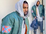 Crossing the line? Kanye West defies critics and wears controversial Confederate Flag jacket to boxing class