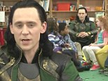 Tom Hiddleston dons Loki costume to lord over children's classroom for Comedy Central spot