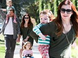 'I LOVE Daylight Saving coming to an end!' Alyson Hannigan celebrates getting her kids to bed early after family stroll tires them out