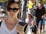 It's 'me' time now! Jennifer Garner finds a moment of solitude at yoga class after a night of trick or treating with her children