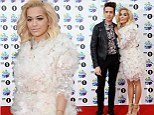 Rita Ora wears floral white dress and strappy heels as she arrives to host BBC Radio 1's Teen Awards