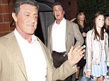 What a good looking bunch! Sylvester Stallone dined with his lovely wife Jennifer Flavin and daughters Sistine, 15, and Scarlet, 11, at Mr. Chow restaurant in Beverly Hills, California on Saturday