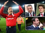 16th April 2013 - Npower Championship - Cardiff City v Charlton Athletic - Vincent Tan, Owner of Cardiff City does 'The Ayatollah' as he celebrates promotion to the Premier League on the pitch - Photo: Marc Atkins / Offside.