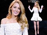 Blake Lively attends the presentation announcing her as the new L'Oreal Paris Egerie for makeup, coloring and hair care at