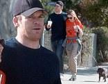 Michael C. Hall enjoys a romantic morning stroll with his girlfriend Morgan MacGregor