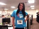 Tasteless: 22-year-old Alicia Lynch posted a picture of her Boston Marathon victim Halloween costume last week, sparking outrage across twitter